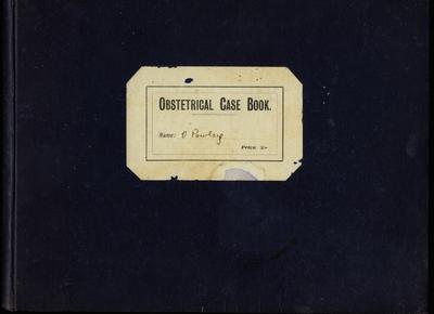 Book, Obstetrical Case Book