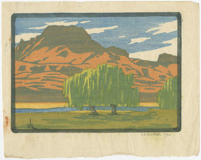 Untitled - landscape and willow trees
