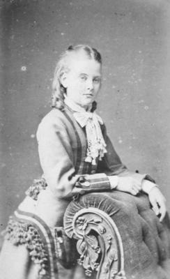 Portrait of unidentified young woman