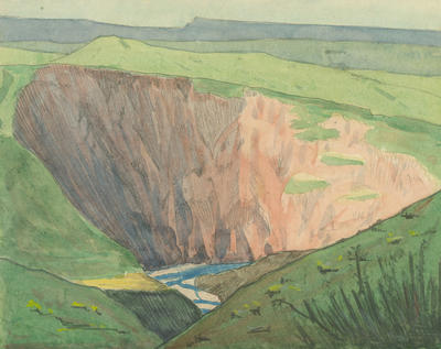 Untitled - valley with a river