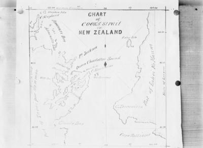 Chart of Cooks Strait in New Zealand