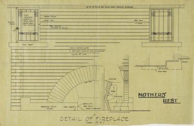 Architectural plan, Mother's Rest, Memorial Square, Napier