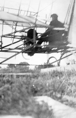 Plane running off ramp