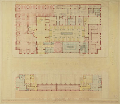 Architecture Plan, Albion Hotel, Napier; Hay, James Augustus Louis; Wolfe, Leonard J
