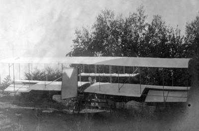Plane in field
