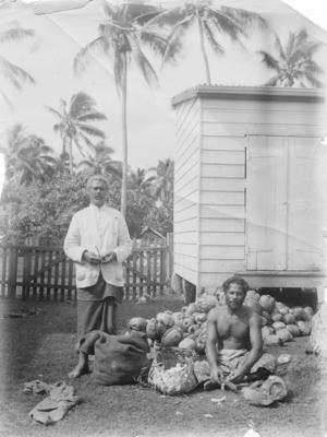 Cutting Copra, Nuku'alofa, Tonga