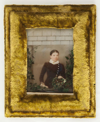 Hand painted ambrotype