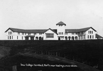 Iona College, Havelock North; Radcliffe, Frederick George