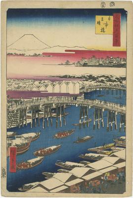 Nihon-bashi, yuki-bare
