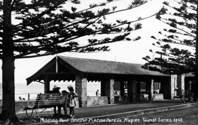 Paddling pool shelter, Marine Parade, Napier