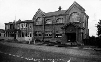 Carnegie Library and Gentlemen's Club, Hastings; Radcliffe, Frederick George