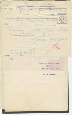 Port Archives, 1910. Box 57