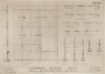 Architectural plan, Government Buildings, Napier
