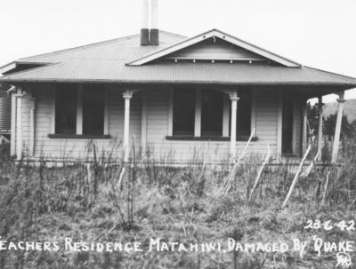 Teacher's Residence, Matahiwi