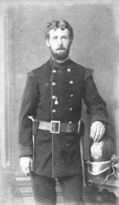 Portrait of an unidentified fireman