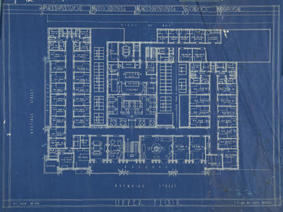 Architectural plan, proposed building on Browning Street, Napier