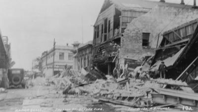 Before the fire, Emerson Street, Napier; A B Hurst & Son