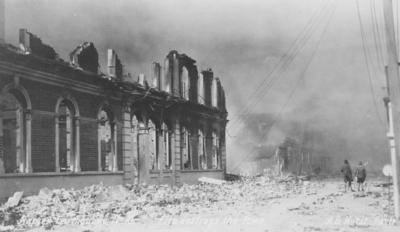During the fire, Napier; A B Hurst & Son