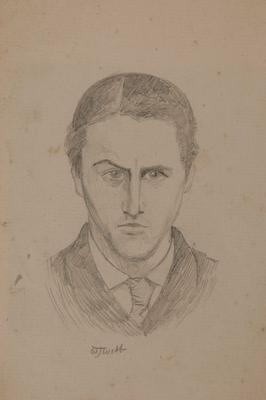 Sketch, face of a man
