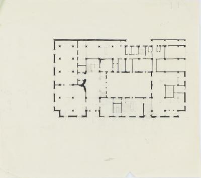 Architectural plan, unidentified building, Napier