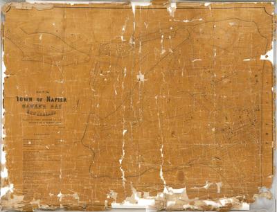 Plan, Town of Napier; Rochfort, Guy; Lyndon, Edward; Hamel & Ferguson Printers