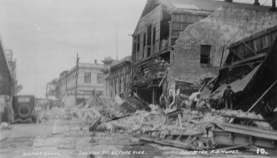 Emerson Street before the fire, Napier