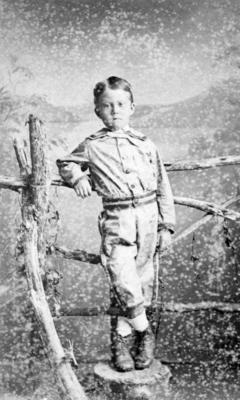 Portrait of an unidentified boy