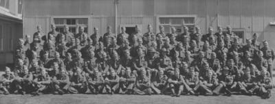 Group portrait, Tomoana Battalion, Home Guard