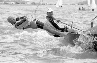 Napier Sailing Club's Chris Valentine and Gavin Earle
