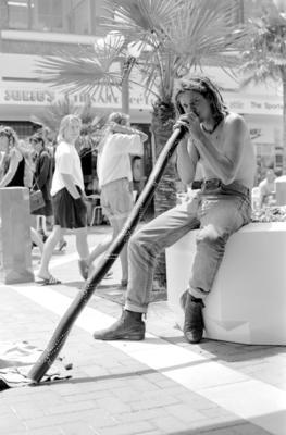Australian didgeridoo player Trevor Tremmen