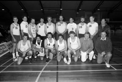 Members of the Napier 1976 and '77 men's basketball teams