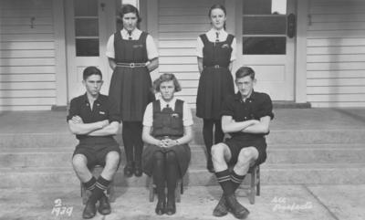 Group portrait, Wairoa District High School Prefects