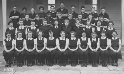 Group portrait, Wairoa District High School