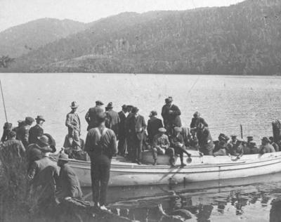 Embarkation on Lake Waikaremoana