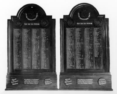 Napier Boys High School WWI Memorial