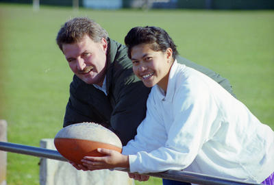 Colin Hunt and Moana Waiwiri, Napier Touch Rugby Association