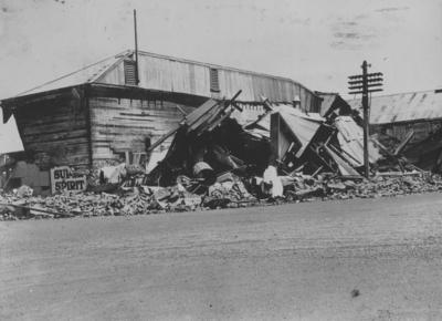 Destroyed building, Waipukurau