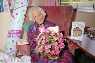 Edna Treseder 100th birthday