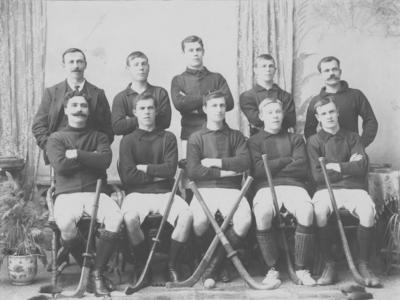 Group portrait, Napier Hockey Club