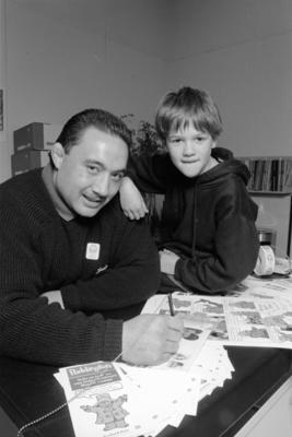 Norm Hewitt and Lance Scott, Tamatea Primary School, Napier