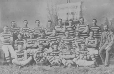 Group portrait, Auckland Football Representatives