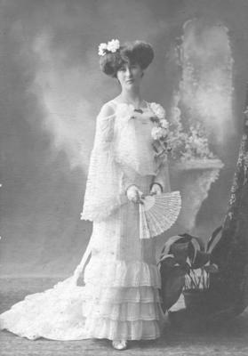 Portrait of an unidentified woman; The American Studio