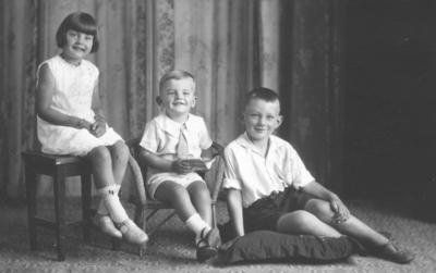 Portrait of Colin, Noreen Jocelyn and Ralph Lovegrove