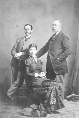 Portrait of Patrick and Annie McLean with George Dixon